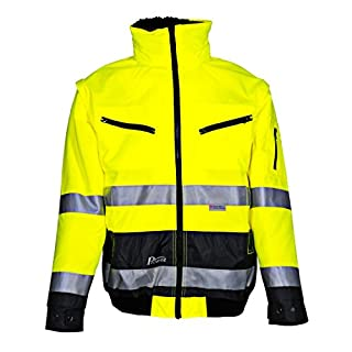 Asatex 174ZG S Prevent High Visibility Pilot's Jacket with Hood, Bright Yellow, Small