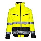 Asatex 174zg S Pilot Chaqueta de protección de advertencia Prevent con forro y cuello tamaño s, bombilla Amarillo, S