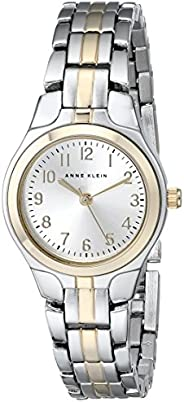 Anne Klein Womens Quartz Watch, Analog and Stainless Steel- 10-5491SVTT