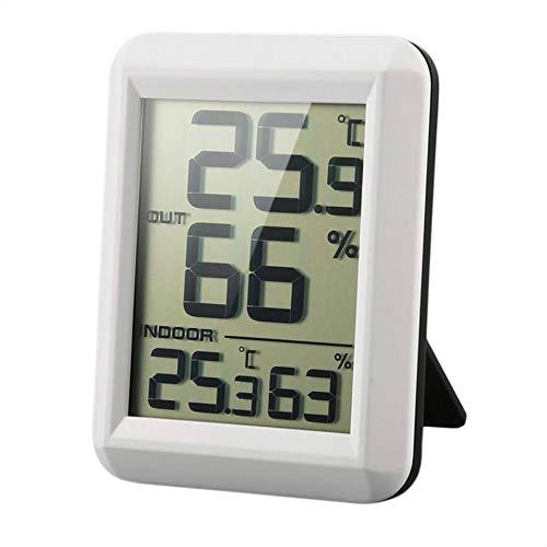 Flushzing Digital LCD Funk-Thermometer Hygrometer mit Transmitter Temperatur-Feuchtigkeits-Test-Meter-Innenwetterstation