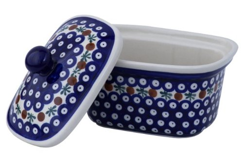 Boleslawiec Pottery Margarine Dish, Original Bunzlauer Keramik, Decor 41