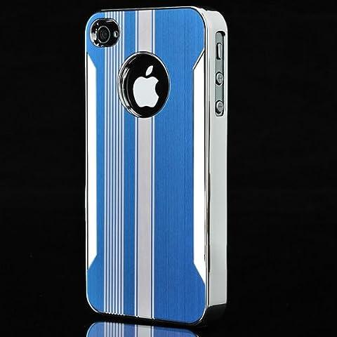 Deluxe raya del cromo de aluminio duro Volver Funda para el iPhone 4.