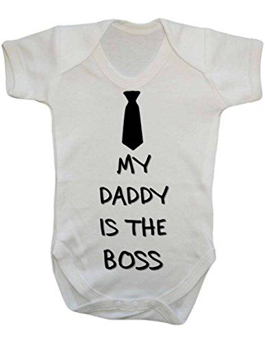 My Daddy è il boss (cravatta) in ricarica Funny Cheeky Dichiarazione Baby Onesie Vest