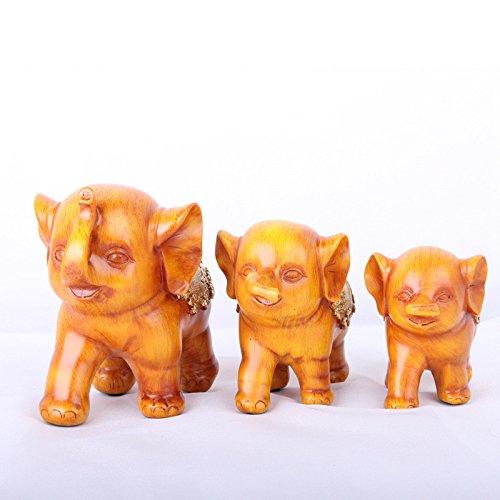 QNQA inneneinrichtungsgegenstände ornamente ornamente harz handwerk süßen wein rot drei elefanten schreibtisch ornamente inneneinrichtungsgegenstände dekorative ornamente,verputzen (Süßen Roten, Wein)