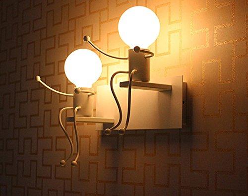 Lit. E27 Lampe Murale Applique Murale Couloir de la lampe Miroir lampe luminaire Couloir de la lampe pour Couloir Toilettes la chambre à coucher Loft Chambre à coucher Office Home Décoration lumineuse Transparent
