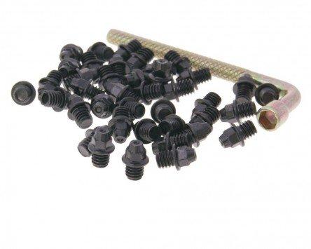 Ersatz Pin Set Stahl M4x4 40 Stück spitz - schwarz