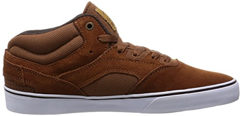 Emerica Westgate Mid Vulc, Skateboard homme brown/white/marron