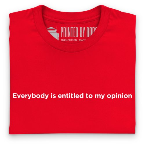 My Opinion T-Shirt, Herren Rot