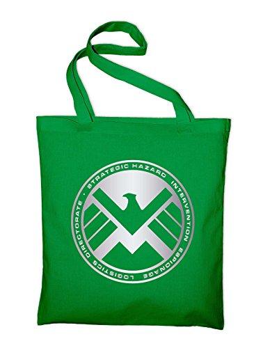 Shield Logo Jutebeutel, Beutel, Stoffbeutel, Baumwolltasche, grün Grün