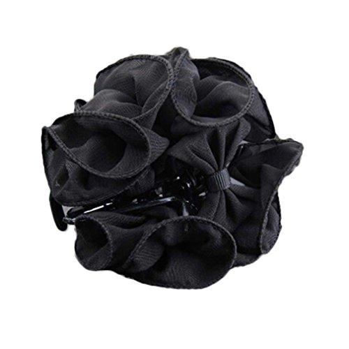 Gemini _ Mall® Blumenhaarspange für Damen/Mädchen, Rose groß, Haarklammer/Haarspange
