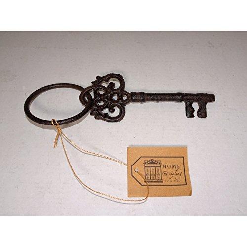KP Schlüsselbund mit 1 Schlüssel aus Eisen Antik Optik Deko Nostalgie Landhaus