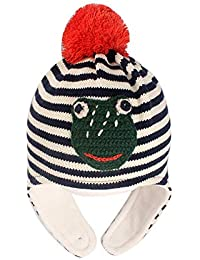 7705417bd XINTO Bebé más terciopelo orejeras gancho de mano rana príncipe niño  sombrero abrigado sombrero bebé gorro