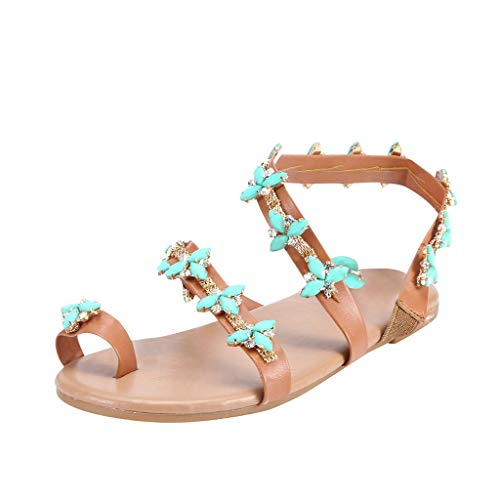 Ladies Summer Pearls Crystal Peep Toe Sling Back T-Bar Flower Fashion Flat Diamante Flip Flop Sandals Women Handmade Sandals Beach Shoes by LILICAT