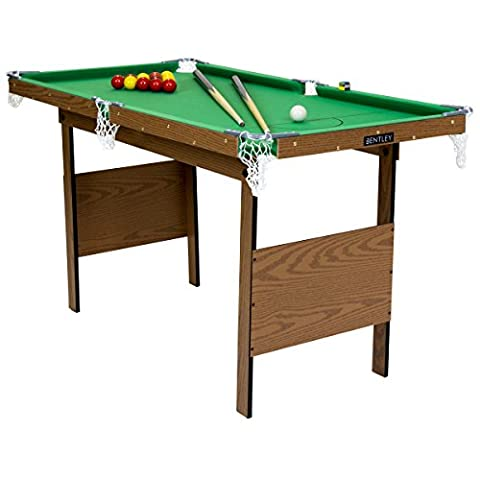 Charles Bentley Kids Junior 4Ft Green Snooker Games Table With