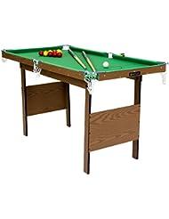 Snooker-Billardtisch Indoor - Snookerkugeln & gelbe Poolbillard-Kugeln - 1,2 m