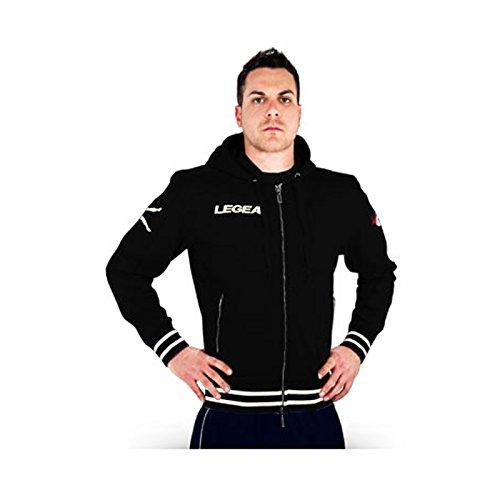 LEGEA Sweatshirt Festa Langarm Sportlich Gymnastik Ausbildung, schwarz (Langarm-ausbildung Schwarzes)