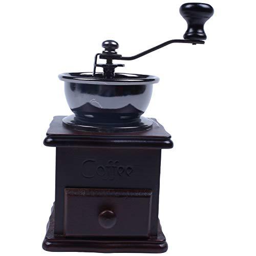 Globalflashdeal Wooden Coffee Bean Spice Vintage Style Hand Grinder Vintage Coffee Grinder
