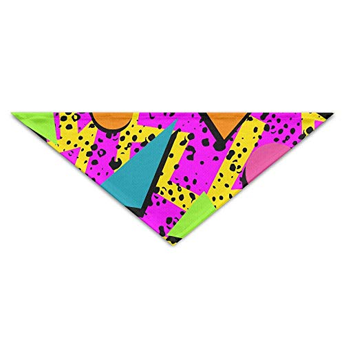 Rghkjlp Colorful Geometric Pattern Pet Scarf Dog Bandana Pet Collars Triangle Neckerchief Puppy Bibs Scarfs