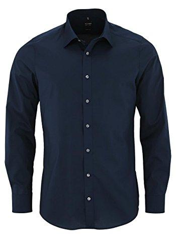 OLYMP Level Five body fit Hemd extra langer Arm Stretch nachtblau AL 69 Größe 42