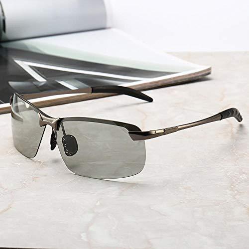 Intelligente Farbwechsel polarisierten Sonnenbrillen Männer Tag und Nacht mit doppeltem Verwendungszweck lichtempfindliche Farbe polarisierten Sonnenbrillen automatische Farbwechsel Sonnenbrillen wei