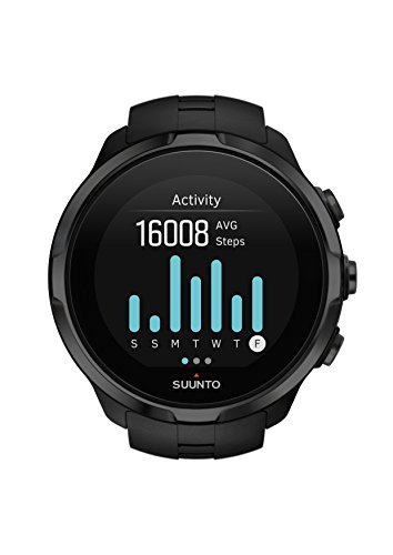 Suunto Unisex Spartan Sport HR GPS-Watch for Multi-Sports Athletes (12 Hours Battery Performance, Water-Resistant up to 100 m, Heart Rate Monitor, Colour Touch Screen), SS022662000 - Black (All Black)