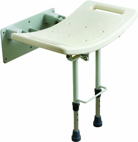 Drive Medical SWALL002 – Asiento para ducha con patas (fijación a pared), color blanco