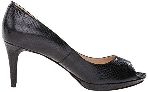 Nine West Gelabelle Leather Pump Dress Black Reptile