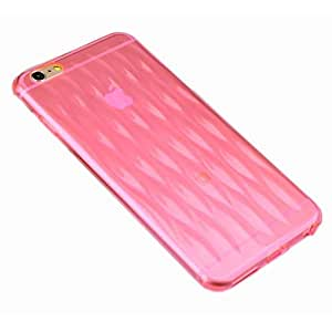 iPhone 6 Plus Case, [Baseus ir Bag Series] 1mm Ultra Thin Soft TPU Shock Resistance Case Cover Providing ABRS Protection for your iPhone6 Plus 5.5 inch - Retail Packaging - Clear Red