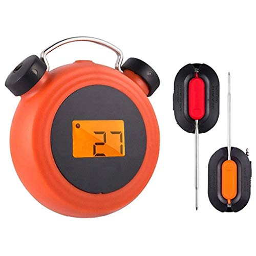 SNOWINSPRING BBQ Thermometer Milch Wasser Küchen Werkzeug Drahtlos Remote Alarm Digital Anzeige BBQ Grill Lebensmittel Thermometer Grill Fleisch
