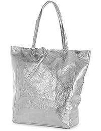 a6f38edb1 LIATALIA Large Soft Shoulder Tote Bag 100% Real Italian Leather Ideal Gift  for Women…