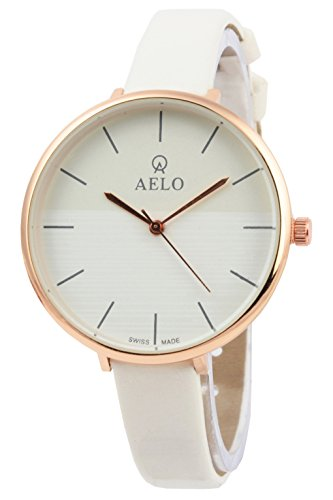 Aelo New Analog White Dial Women's Watch - Www1072