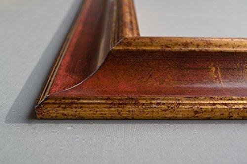 Bilderrahmen Athen - Rot Braun 36x48 cm 48x36 cm hier mit entspiegeltem Plexiglas