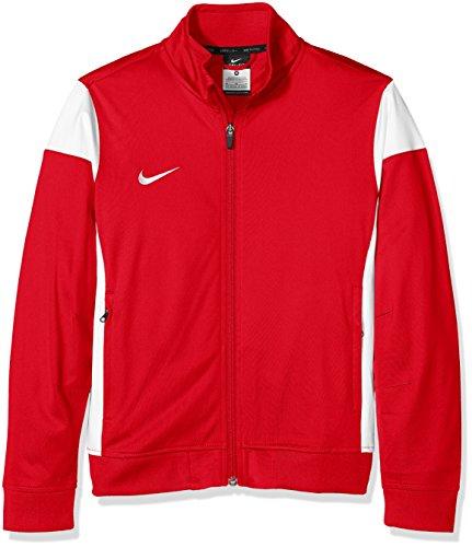 Nike Kinder Sweatshirt Sideline Knit Trainingsjacke, University red/White, M