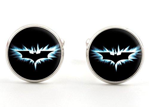 Bazinga Jewellery Batman Cufflinks, The Dark Knight, Comic Book Superhero Jewellery Gift Ideas for Men
