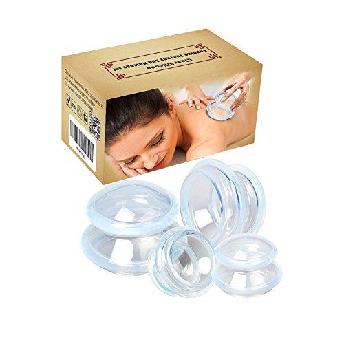 Coppettazione silicone cupping set,4 pz silicone massaggio coppettazione coppe massaggiatore anti cellulite vuoto coppe