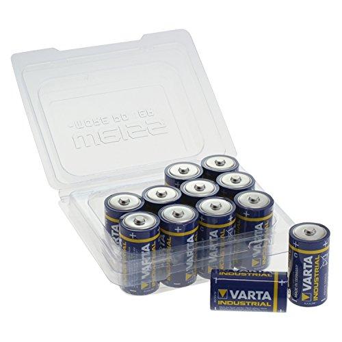 Varta 4014 Baby/C/LR14/MN1400 Industrial Wiederverschließbarer Alkaline Batterie mit Box (12-er Pack) weiß Alkaline-batterie-box
