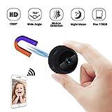 Mini Kamera Wireless Kleine Kamera WiFi Mini WLAN TANGMI 1080P Tragbare Überwachungskamera Micro Mikro Kamera mit Nachtsicht und Bewegungserkennung Geeignet 160 ° Weitwinkel