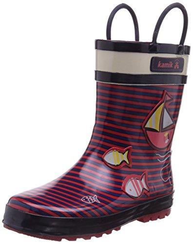 Kamik Ahoy, Bottes en caoutchouc de hauteur moyenne, non doublées mixte enfant Rouge - Rouge (ROSE/ROS)