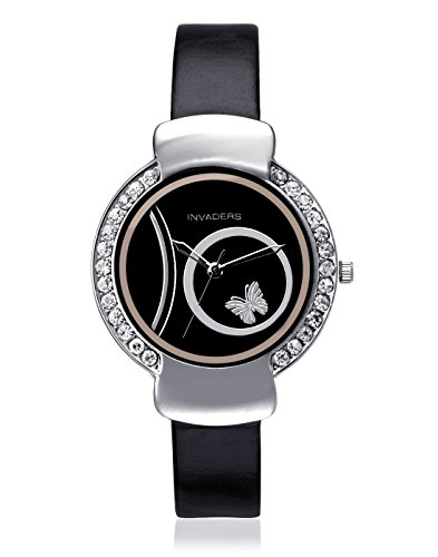 Invaders INV-CUTE-BLK Cute Analog Watch For Unisex