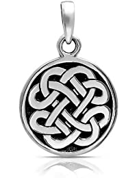 Bling Jewelry Nudo Celta Colgante Medallón Plata Esterlina