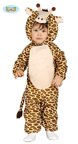 (Kinder-Kostüm Giraffe Gr. 68/80 Fleece Overall KInderfasching Kleinkind Kostüm)