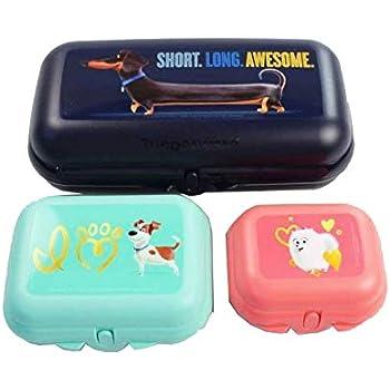 TUPPERWARE Snackbox Brotdose Twin Gr Gr 3 Minion Gelb 2 Pets Türkis