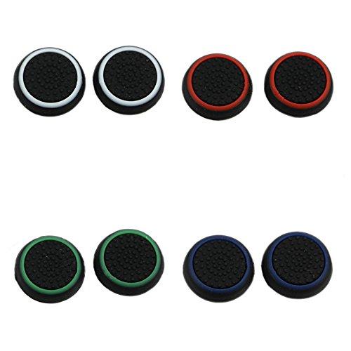 Sehr anspruchsvoll 10Paar/20Pcs Silikon Gap Joystick Daumen Grip Schützen Ersatz Silikon Cap Cover für PS3/PS4/Xbox 360/Xbox One Game Controller Schwarz, 6Pcs Green+6Pcs Blue+6Pcs Red+6Pcs White