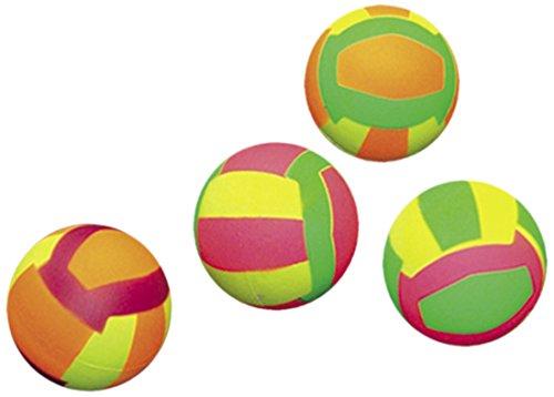 Nobby Moosgummi Volleybälle sortiert 6,3 cm; 4er Netz