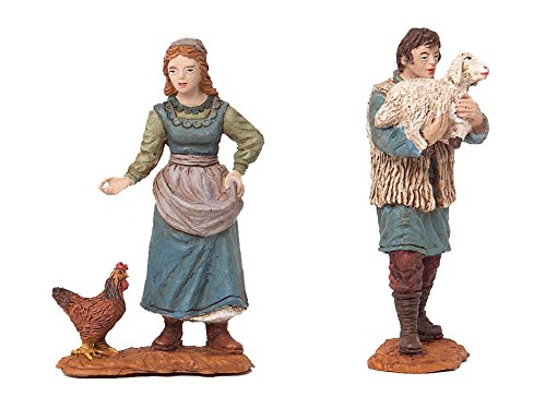 OLIVER Caja 2 figuras 12cm Durexina (pastora con gallina)