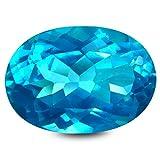 Paraiba Topazio blu Pietra preziosa sciolto 6.88 ct AAA+ Oval Shape (14 x 10 mm) Natural Paraiba Blue Topaz Loose Gemstone