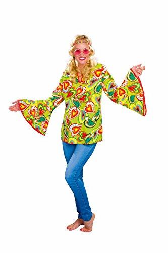 Festartikel Müller Damen Kostüm Hippie Bluse Karneval Fasching Mottoparty Gr.44/46