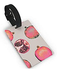 Ewtretr Etiquetas para Equipaje Pomegranate Watercolor Luggage Tag Travel Identifier Labels Set For Bags Baggage