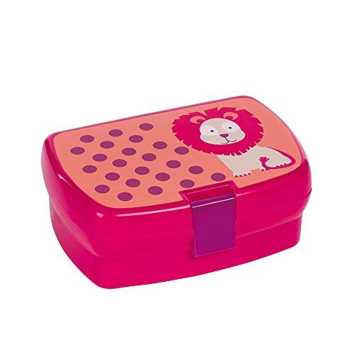 inder Lunch-Box Brotdose, Wildlife Löwe, rosa (Rosa Kunststoff-schalen)