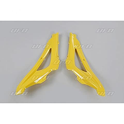 Upper radiator covers husqvarna cr/wr/te/tc yellow - hu03316-103 - Ufo 05200399